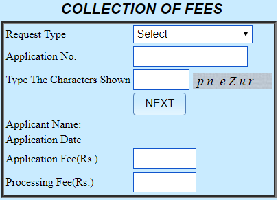 collection of fees payment at banglarbhumi.gov.in