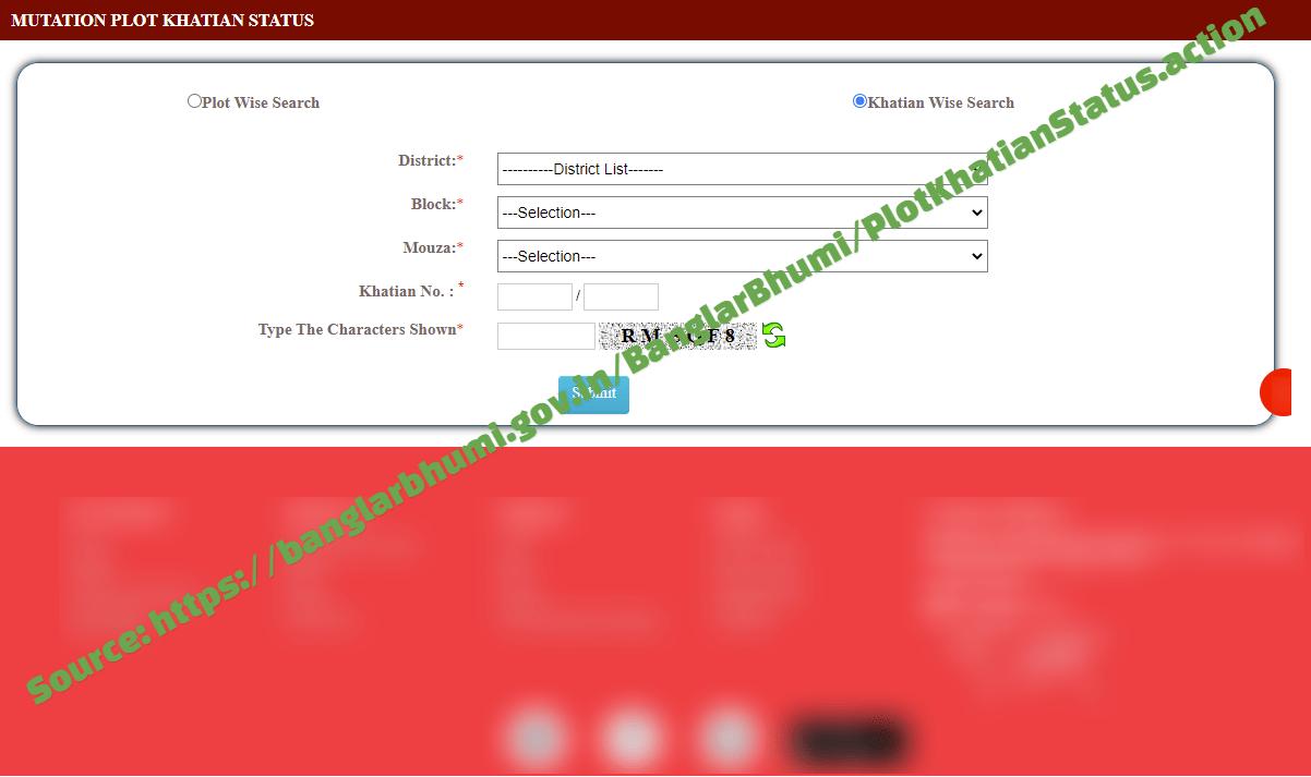 mutation plot khatian status